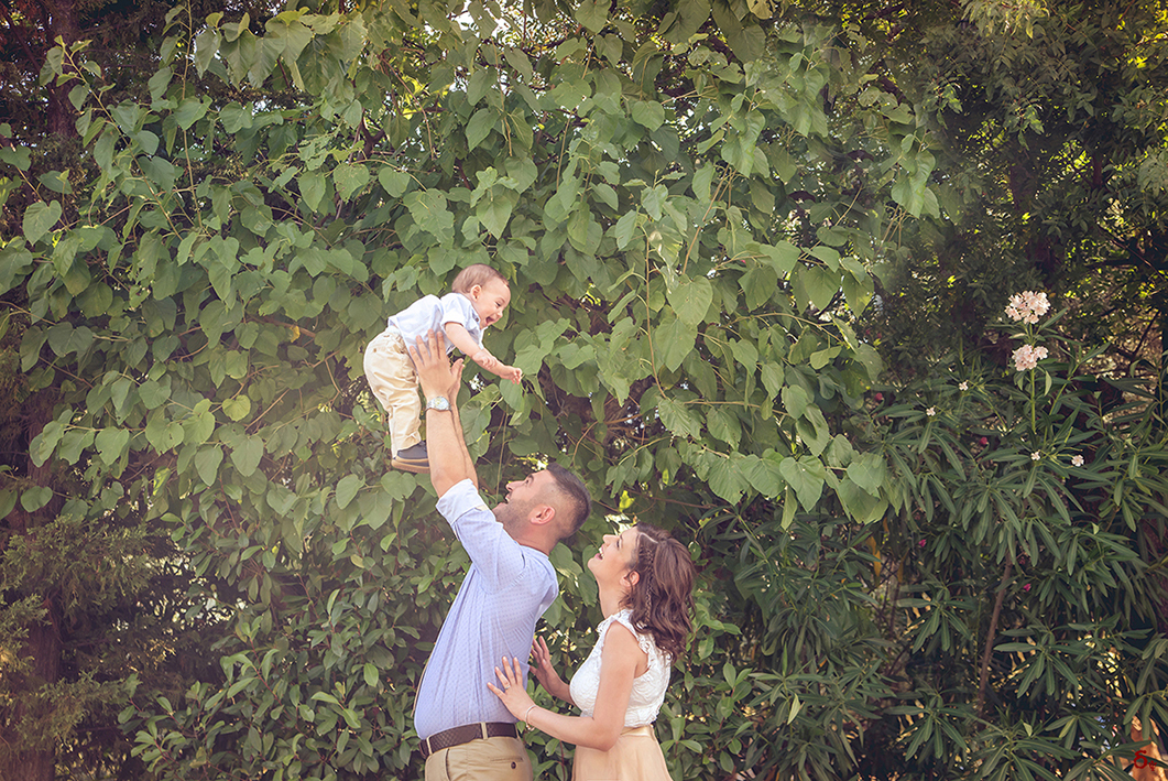 happy family photoshooting christening day baby boy photography