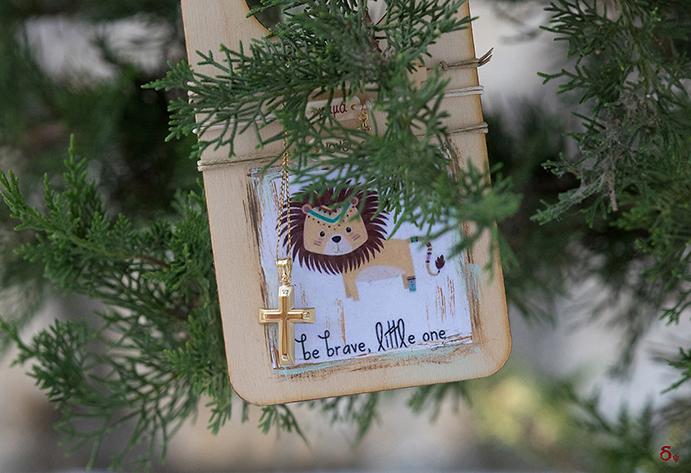 Faith, Grace, Light be brave little one Christening cross Baptism themes lion zoo theme baptism day
