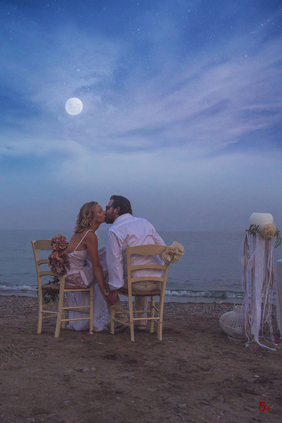 wedding at poros wedding by the beach greek wedding boho wedding bride and groom moon kiss love and vows