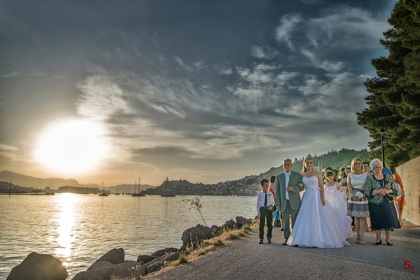 poros wedding greek island greek tradiotional wedding brides father sea view wedding