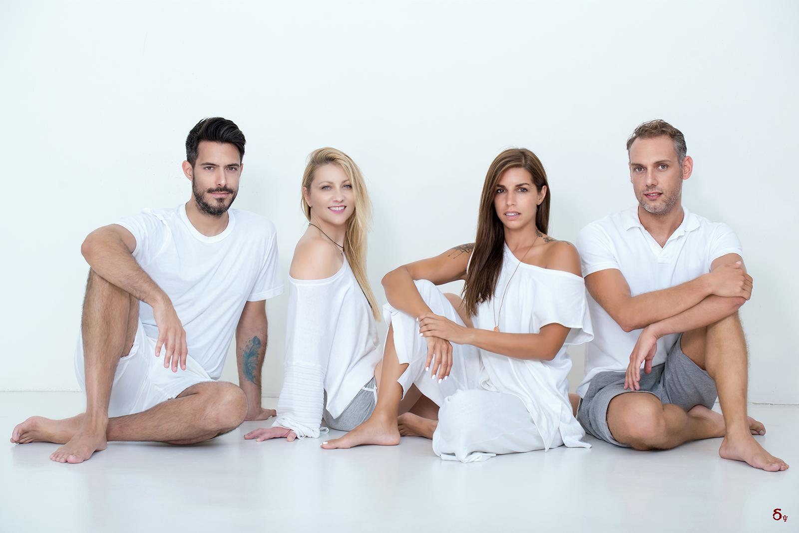 enosis yoga business portrait yoga photographer maganari , niko geo, george fragoulis, christina sampani