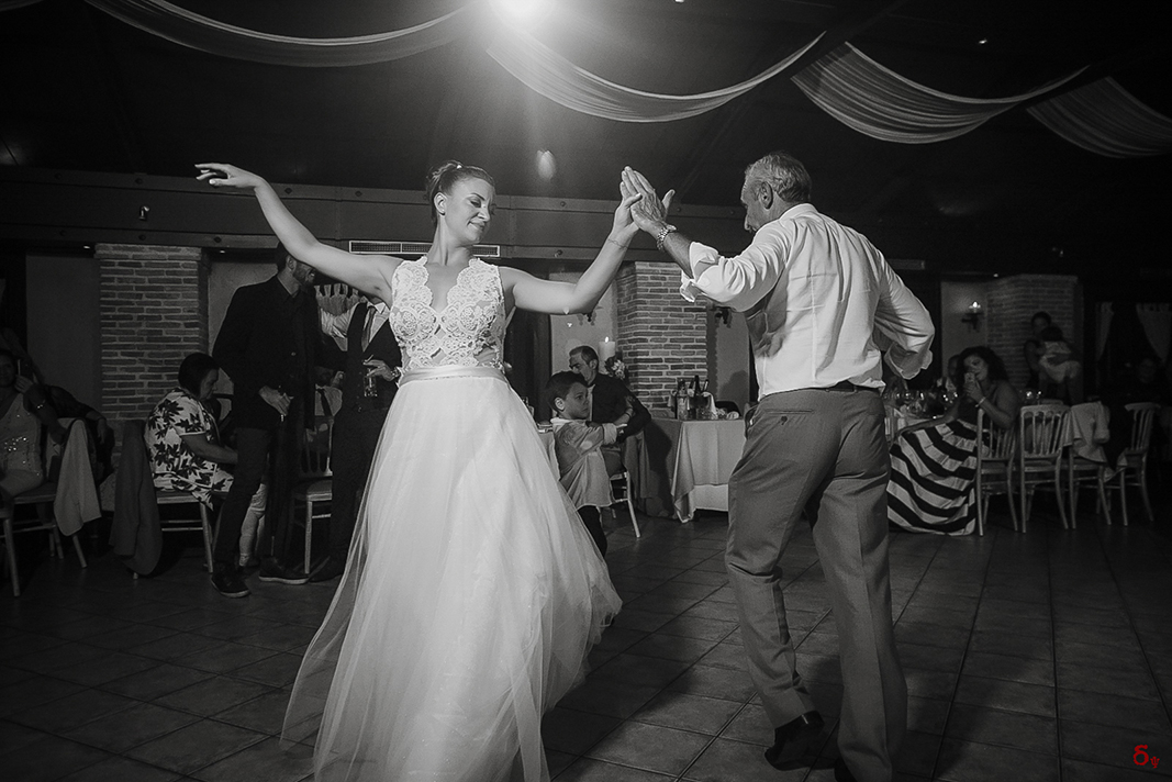 dance me till the end of love wedding dance wedding day black and white wedding venue father and daughter